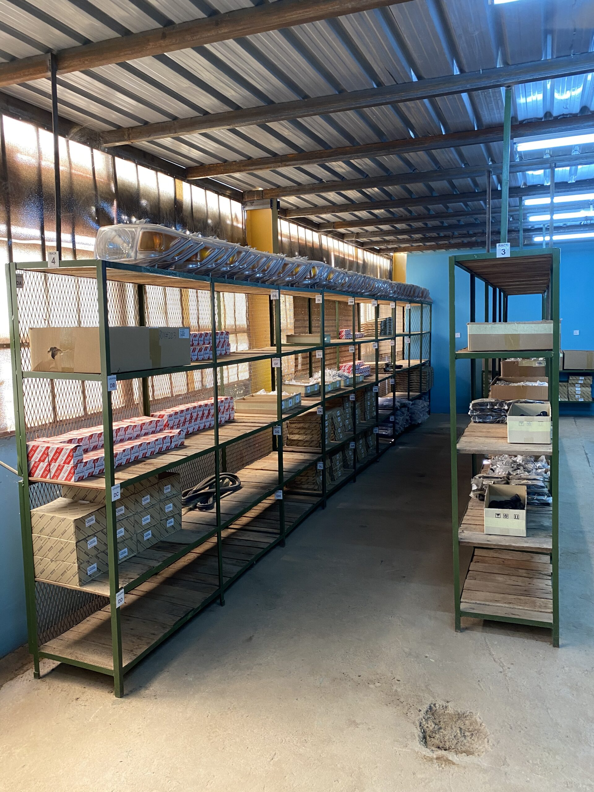 Northern Africa: Re organised spare parts stores at the workshop