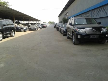Angola: Parking bay of the completed workshop